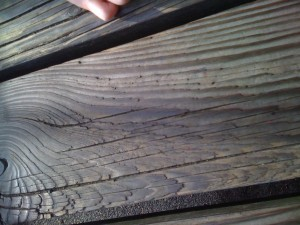 Splintering wood
